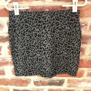Black cheetah pencil skirt
